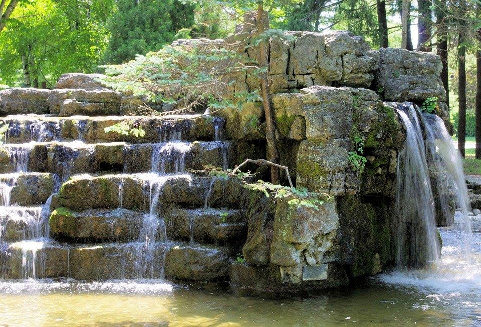 waterfall as dynamic object in space